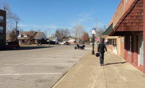 Deserted streets of Chelsea, Oklahoma