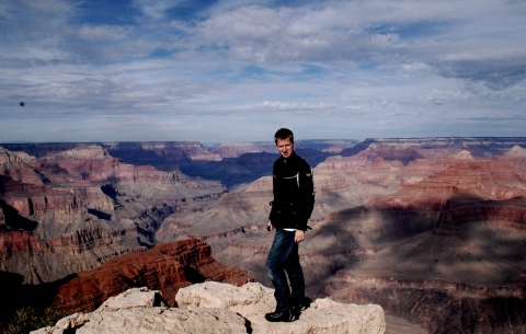 Harry Sinclair enjoys east end of the Grand Canyon
