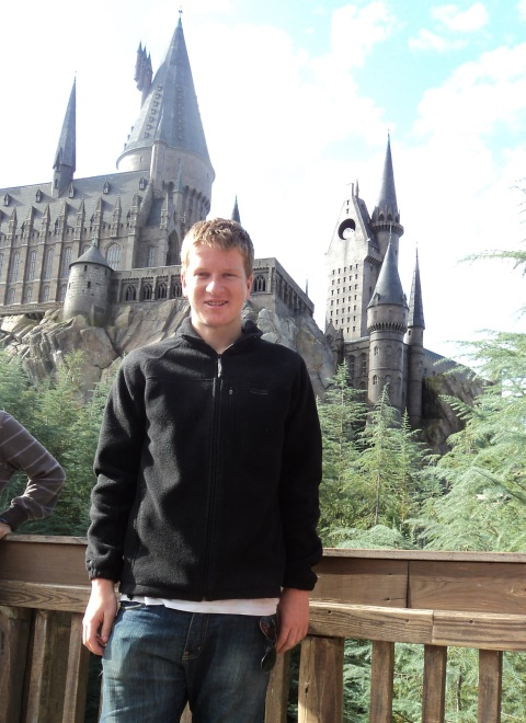 At the Harry Potter Theme Park