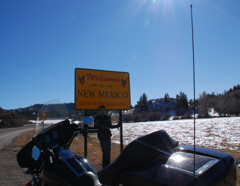 At the New Mexico border with Colorado