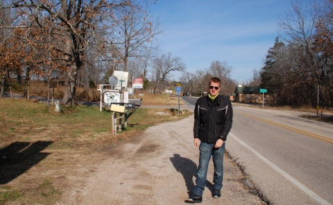 On the Missouri border