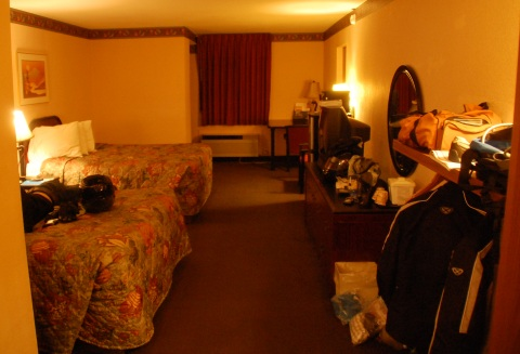 The usual hotel room in Lake City, Florida