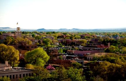 Santa Fe downtown's cityscape