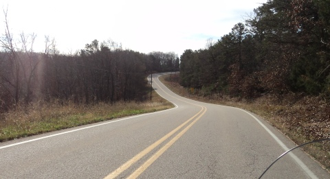 Sweeping bends of the Ozarks