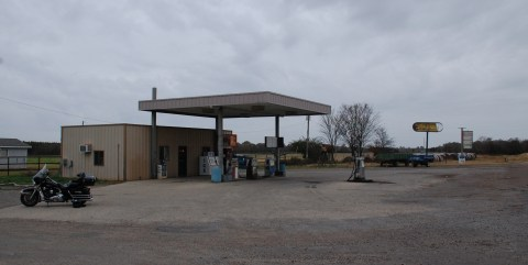 Typical small town gas station
